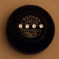 Duncan Black Jeweled Tournament Yo-Yo, wood, rhinestones front and back