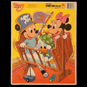 Vintage Disney Babies 1984 frame tray puzzle
