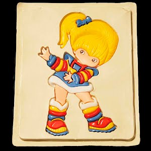 Vintage Plastic Dancing Girl Puzzle