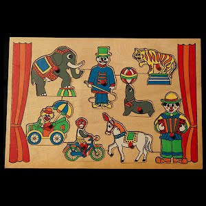 Vintage Wood Circus Puzzle
