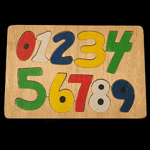 Vintage Wood Learn Your Numbers Puzzle