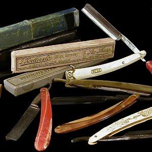 Antique Straight Edge Razors and Shaving Items