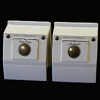 Vintage Plastic Washer and Dryer Salt and Pepper Shakers Set