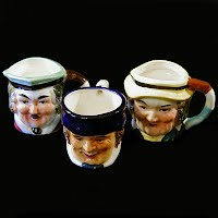 Vintage Small Toby Mugs, 1947