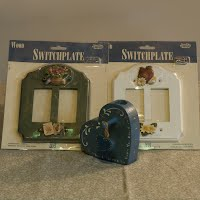 Vintage Decorative Light Switch Covers and Candle Holder
