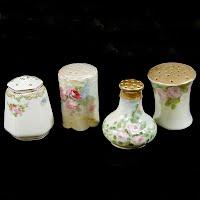 Antique Handpainted Salt Shakers
