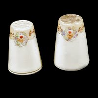 Antique Salt and Pepper Shakers, hand painted