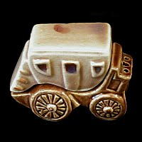 Vintage Ceramic Stagecoach Salt and Pepper Shaker