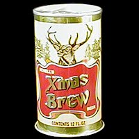 Vintage Beer Can, Schell Xmas Brew Beer