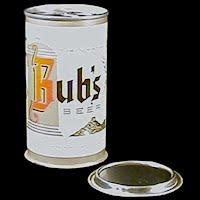 Vintage Beer Can, Bub's Beer