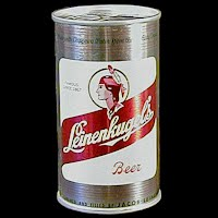 Vintage Beer Can, Leinenkugel Beer, silver