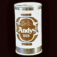 Vintage Beer Can, 1976 Brown Andy's Beer