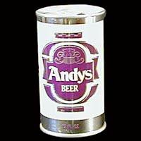 Vintage Beer Can, 1976 Purple Andy's Beer