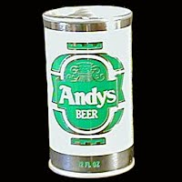 Vintage Beer Can, 1976 Green Andy's Beer