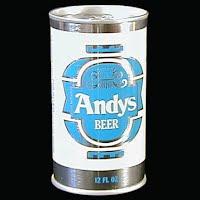 Vintage Beer Can, 1976 Blue Andy's Beer