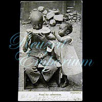 Antique Postcard, Real Photo Black Children, 1907