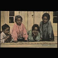 Antique Photochrome Black Americana Postcards 1906