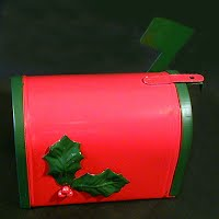 Vintage Metal Christmas Mailbox