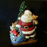 Vintage Ceramic Santa Light, 1989