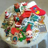 24 Vintage Christmas Ornament Grab Bag