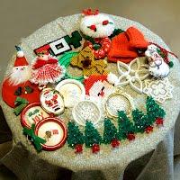 21 Vintage Christmas Ornament Grab Bag