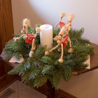Vintage Rope Horse Christmas Wreath, 1985