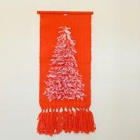 Vintage Christmas Woven Wall Hanging, 1970