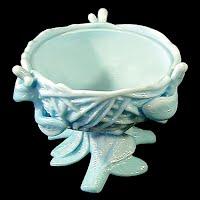 Antique Blue Milk Glass Nest