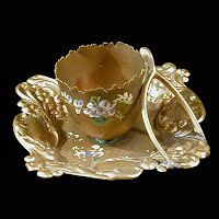 Antique Metal Egg or Toothpick Holder tray