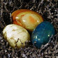 Vintage Onyx Stone Eggs