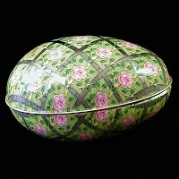 Vintage Metal Easter Egg Container