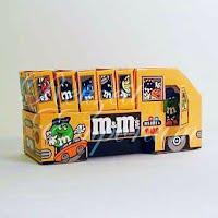 Vintage M and M's Cardboard Bus