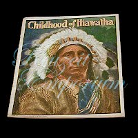 Antique Children's Book from The Golden Rule Store, Childhood of Hiawatha