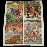 Antique Ephemera Knapp Company, Pictures of Children Playing Games