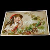 Antique Ephemera New Year's Card