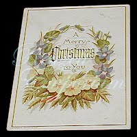 Antique Ephemera, Antique Christmas Card
