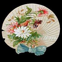Antique Ephemera  Paper Fan Decoration