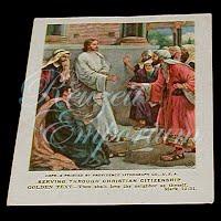 Antique Religious 1938 Picture Lesson Card