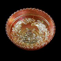 Antique Carnival Glass, Marigold Windmill Round Bowl, 1940 Imperial Glass Co