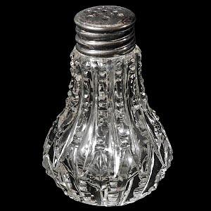 Antique Vintage Cut Glass Single Salt Shaker