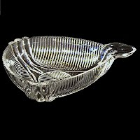 Vintage Depression Glass Triangle Clear Glass dish