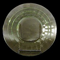 Antique Depression Glass Green Block Optic Plate