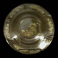 Antique Amber Sharon Cabbage Rose Depression Glass Bowl, Federal Glass Co 1929