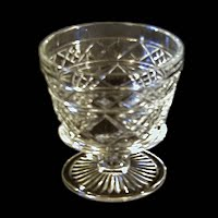 Vintage Antique Clear Glass Footed Sherbet