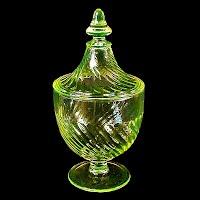 Vintage Vaseline Candy Jar