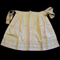 Vintage Handmade Cross Stitch Gingham Apron