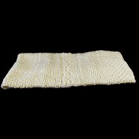 Vintage Hand Knit Baby blanket, cable and fisherman's net design