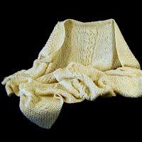 Vintage Hand knit Baby Blanket