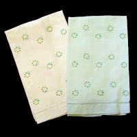 Antique Linen Hand Towels with emboidary and cut work