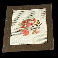 Antique Handmade 1890's Needlework Piece